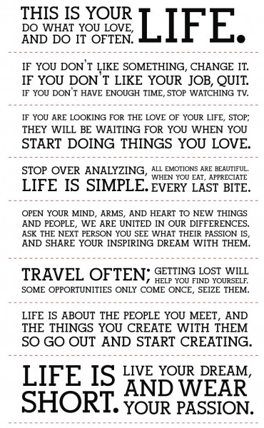 holstee manifesto 370x600 This is your life. Do what you