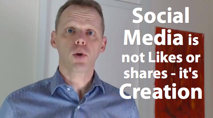 Social Media is about creation